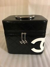 New Chanel cc logo VIP GIFT cosmetic make up case bag size Large