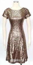 S.L. Fashion SLNY Copper Cocktail Size 16 Shift Dress A Line Women's New*