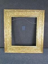 ANTIQUE 1800s signed ITALIAN HAND CARVED PAINTING FRAME, FITS 27 X 24 INCHES