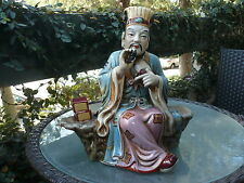 BEAUTIFUL CHINESE HUG CRACKLE CRACKED PORCELAIN STATUE FIGURIN MAN