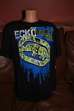 New Men's MMA UFC Mark Ecko Unltd Black New Drip Tee T Shirt  M