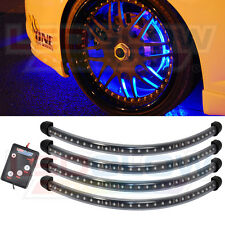 LEDGLOW BLUE 4PC FLEXIBLE LED WHEEL WELL FENDER RIM KIT LIGHTING UNDERBODY KIT