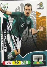 A Panini UEFA EURO 2012 card signed by Glenn Whelan of The Republic of Ireland.