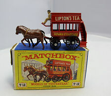 Vintage Matchbox Lesney Y-12 Horse Bus Lipton's Tea - Boxed (527)