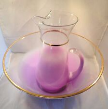 BLENDO Purple Salad Bowl and Pitcher - West Virginia Glass