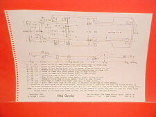 1968 CHRYSLER NEW YORKER 300 NEWPORT CONVERTIBLE COUPE FRAME DIMENSION CHART