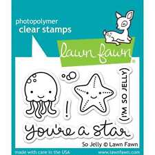 NEW LAWN FAWN SO JELLY CLEAR ACRYLIC STAMP SET