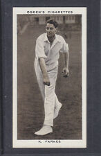 Ogdens - Prominent Cricketers of 1938 - # 8 Kenneth Farnes - Essex