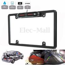 Car Rear View Backup Camera IR Night Vision USA License Plate Frame Mount CMOS