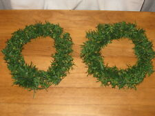 """PAIR 7"""" PINE WREATHS TO DECORATE AS YOU WISH"""