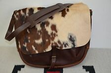 Ralph Lauren RRL Distressed Fur & Leather Shoulder Messenger Mailbag Bag