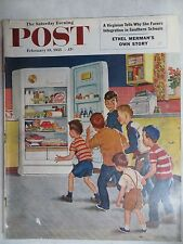 Saturday Evening Post Magazine  February 19,1955 Amos Sewell VINTAGE  ADS Coke