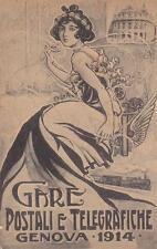 9283) GENOVA 1914, GARE POSTALI E TELEGRAFICHE.