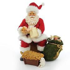 "NEW Kurt Adler Fabriche 10"" Musical Nativity Santa w/ Baby Jesus Figurine C7452"