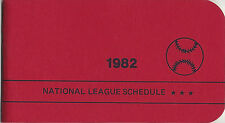 1982 National League Schedule Booklet East & West Teams