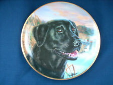 "Franklin Mint Black labrador ""Awaiting His Masters Call"" plate ***SALE***"