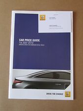 Renault Car Price Guide 2010