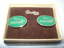 C1970S VINTAGE JAGUAR CARS ENAMEL STRATTON MADE BOXED GENTS CUFFLINKS