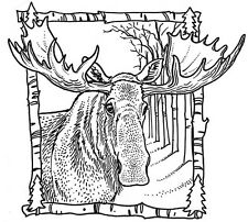 Unmounted Rubber Stamps, Wildlife, Alaska, Moose Stamps, Scenic, Hunting, Lodge