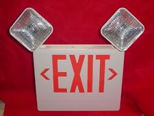 Big Beam Red LED Exit Sign/Emergency Light  Single or Double Side Mounting  NIB