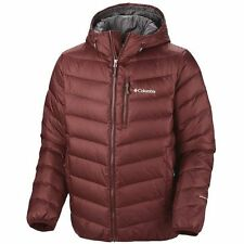 NWT! Columbia Nature Ridge Hooded Down Jacket, Omni Heat, Burgundy Red, XL