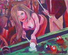 POOL TABLE Original Art PAINTING DAN BYL Modern Contemporary huge 4x5 ft Canvas