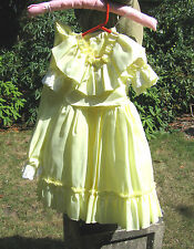 BRIDESMAIDS FLOWER GIRL DRESS YELLOW 2 3 YEAR DESIGN VICTORIAN PANTALOONS