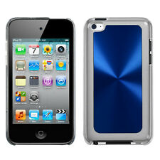 For Apple iPod Touch 4 HARD Protector Metal Cosmo Case Snap on Cover Blue Cosmo