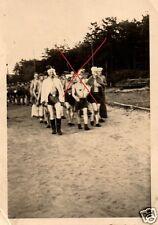 17825/ 2 Originalfoto 9x6cm, RAD-Lager Dagebüll, Scherzfoto, ca. 1941