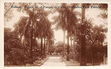 Cuba real photo postcard Havana Habana Fuente en el Parque de Colon Columbus