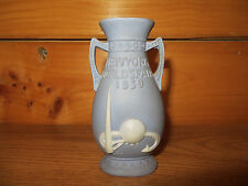 "1939 Worlds Fair ""Jasperware"" 5"" Bud Vase (marked Merrie England)"