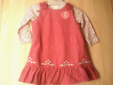 NEXT BABY GIRL'S PINAFORE DRESS & TOP SIZE 0-3 MONTHS BNWT
