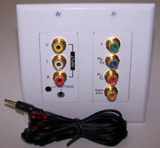 Component AV over Cat 5 IR Repeater Wall Plate 1228 Sys