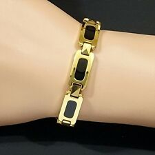 Strong Magnetic Tungsten Arthritis Pain Relief RSI 24K Gold & Black PLT Bracelet