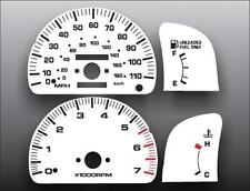 1995-1997 Toyota Tacoma Tach Dash Cluster White Face Gauges 95-97