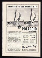 3w1698/ Alte Reklame von 1960 - POLAROID Sonnenbrillen