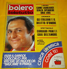 BOLERO FILM 1973 n. 1368 Renzo Arbore, Sylvie Vartan, Minnie Minoprio