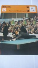 RARE SPORTSCASTER RENCONTRE COLLECTABLE  CARD BILLIARDS RAYMOND CEULEMANS