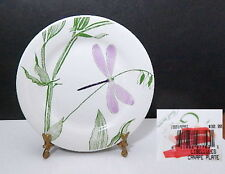 Gien Faience LIBELLULES Canape Bread Dessert Plate Dish  FRANCE - NICE!
