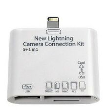 5 in1 Lightning to USB SD MicroSD Camera Combo Adapter F iPad 4 Mini Air 2 Hot!!