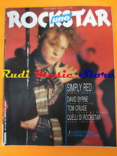 rivista ROCKSTAR 77/1987 Simply Red David Byrne Jay Mcinerney Peter Gordon No cd