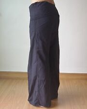 Thai Fisherman Yoga  Meditation Pants Long Black Cotton 1 Size Machine Wash