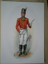 POSTCARD 49TH HEREFORDSHIRE REGIMENT C1813 FIELD OFFICER