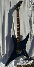 guitare JACKSON Warrior WRXT - body blue flamed - Floyd Rose - HH - rosewood -