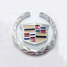 3D car Metal Badge Emblem Graphics f4 Cadillac Decal Sticker SRX ATS CTS XTS 2pc