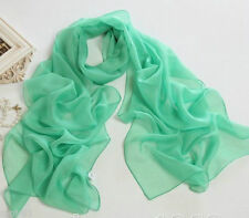 2015 New Women's Chiffon Soft Scarves Long Wraps Shawl Summer Pure Color Scarf