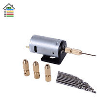 Mini DC 5-12V Electric Motor Hand Drill 2.3mm Copper Collets and Bracket Stand