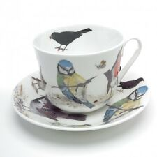 Roy Kirkham Garden Birds Large Bone China Breakfast Cup & Saucer Boxed Gift New