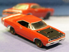 1969 69 Dodge Super Bee 440 Six Pack V-8 1/64 Scale Muscle Car Real Rubber Tires