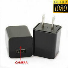 8GB HD 1080P AC Adapter US Plug Charger Spy Hidden Camera Cycle Recording DVR TT